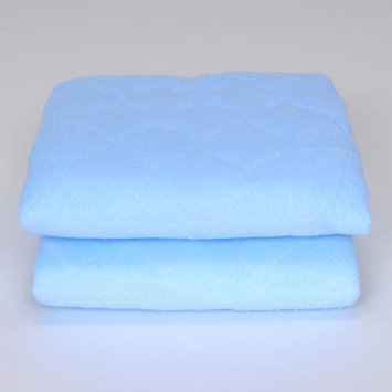 Royal Heritage Quilted Baby Blue Terry Cloth Sheet Saver - Set of 2