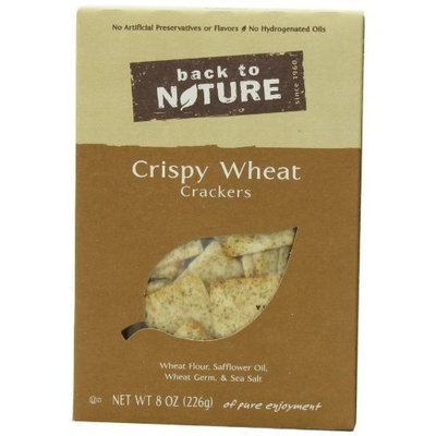 Back To Nature Crispy Wheats Cracker, 8-Ounce Boxes (Pack of 6)