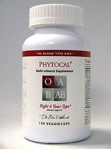 D'Adamo Personalized Nutrition Phytocal Mineral Formula (Type O) 120vc
