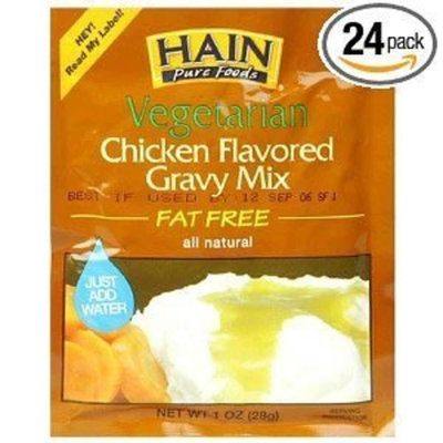 Hain Pure Foods Vegetarian Chicken Flavored Gravy Mix, 1-Ounce Packets (Pack of 24) ( Value Bulk Multi-pack)