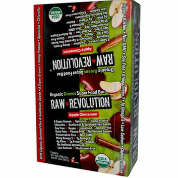 Raw Revolution Bar Organic Apple Cinnamon Case of 12 1.6 oz