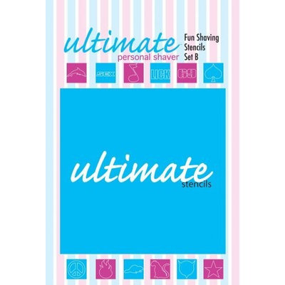 Ultimate Personal Shaver Stencils Set, 12 Miscellaneous Images