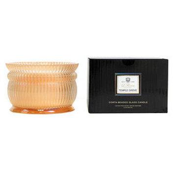 Voluspa 2 Wick Corta Beaded Glass Candle, Temple Grove, 15.8 oz