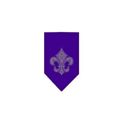 Ahi Fleur De Lis Rhinestone Bandana Purple Small