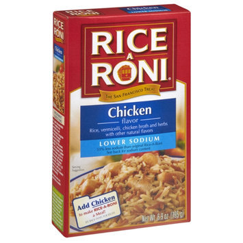 Rice-A-Roni Chicken Flavor Lower Sodium Rice