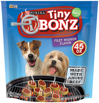 Nestlé' Usa Purina Tiny T Bonz Filet Mignon Flavored Dog Snack 45 oz. Pouch