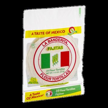 La Banderita Fajitas Flour Tortillas - 10 CT