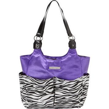 Smart Mommy Bags Purple Passion Diaper Bag Purple Black and White - Smart Mommy Bags Diaper Bags