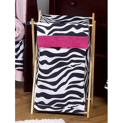Sweet Jojo Designs Zebra Pink Collection Laundry Hamper