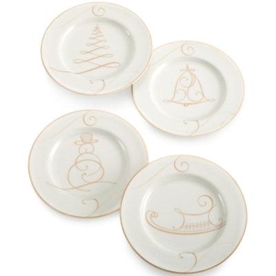 Noritake Golden Wave Set of 4 Appetizer Plates
