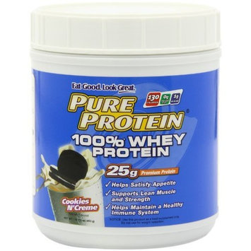 Pure Protein 100% Whey Powder Cookies and Cream 1-Pound Tub