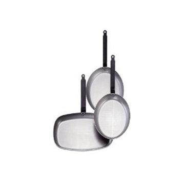 World Cuisine 41719-32 BLACK STEEL OVAL FRYING PAN