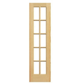 Masonite Solid Core 10-Lite Clear Pine Slab Interior Door (Common: 24-in x 80-in; Actual: 24-in x 80-in) 738752