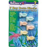 Penn Plax Pro Balance 7-Day Betta Blocks Fish Food (0.3 oz.; 6 tablets)