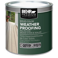Exterior Stain: BEHR Premium Finish 8 oz. Tintable Solid Color Weatherproofing All-In-One Wood Stain and Sealer Sample Multi 501316