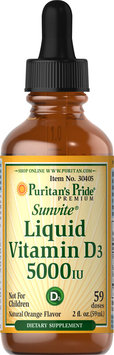 Puritan's Pride Liquid Vitamin D3 5000 IU-2 oz Liquid