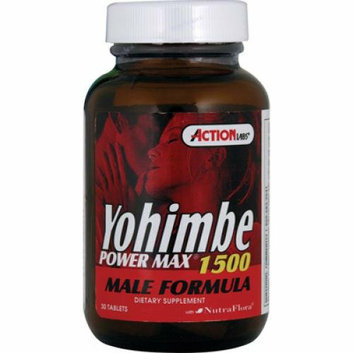 Action Labs Yohimbe Power Max 1500 Male Formula 30 Tablets