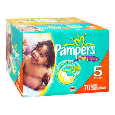 Pampers Baby Dry Size 5 Sesame Street Diapers - 70 CT