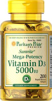 Puritan's Pride Vitamin D3 5000 IU-200-Softgels
