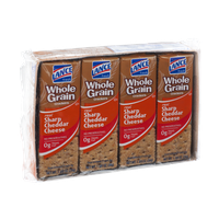 Lance Whole Grain Sharp Cheddar Cheese Crackers - 8 CT