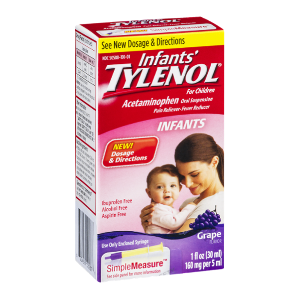 Infants' Tylenol Simple Measure Pain Reliever and Fever Reducer Grape Flavor