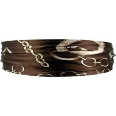 Smoothies Chain Scarf Headband-Brown 01402