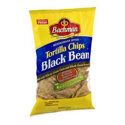 Bachman Restaurant Style Tortilla Chips Black Bean
