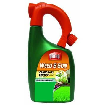 The Scotts Co. Ortho Weed B Gon MAX Weed Killer for Lawns Plus Crabgrass Control Ready-Spray Hose End Attachment, 32-Ounce (Not Sold in HI, NY)