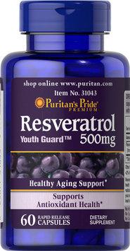Puritan's Pride 2 Units of Resveratrol 500 mg-60-Capsules