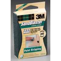 3M 3m 20909-36 36 Grit SandBlaster Paint Stripping Sanding Sponge Block
