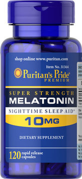 Puritan's Pride 2 Units of Melatonin 10 mg-120-Capsules