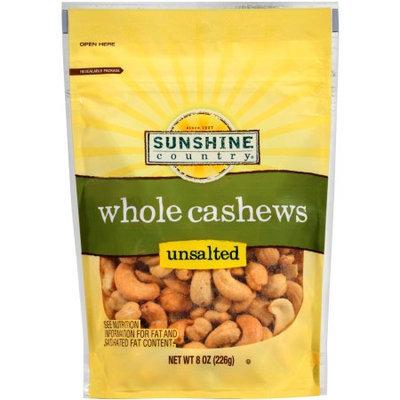 Generic Sunshine Country Unsalted Whole Cashews, 8 oz