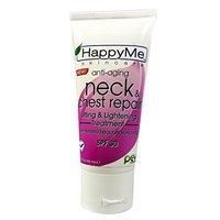 Happy Me Skincare Anti-Aging Neck & Chest Repair Lifting & Lightening Treatment SPF 30, 1.7 fl oz