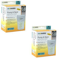 Medela Pump and Save Bags 50 Counts - Pack of 2