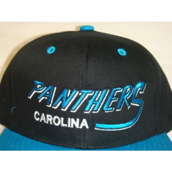 Reebok Carolina Panthers NFL Two Tone Vintage Snapback Flatbill Cap / Hat