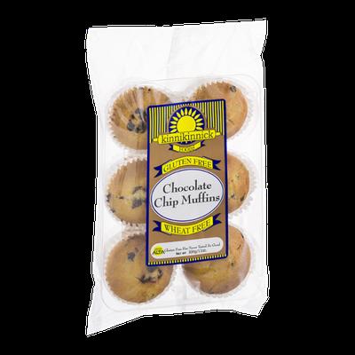 Kinnikinnick Chocolate Chip Muffins Gluten Free - 6 CT