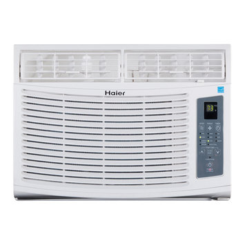 Haier America Trading Llc Energy Star 10,000 BTU 115V Window-Mounted Air Conditioner with MagnaClik Remote with Braille
