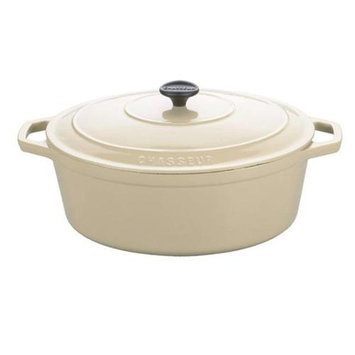 Paderno World Cuisine Paderno 3 1/2 Quart Matte Meringue Oval Dutch Oven