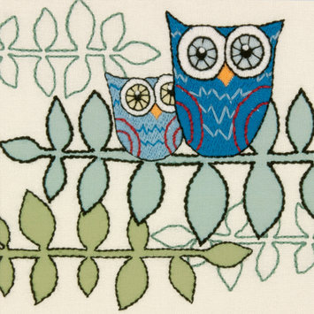 Dimensions Handmade Collection Owl Crewel Embroidery Kit