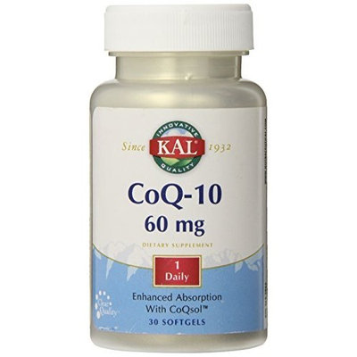 KAL CoQ-10 Softgels, 60 mg, 30 Count