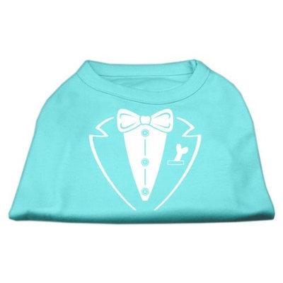 Mirage Pet Products 5179 XLAQ Tuxedo Screen Print Shirt Aqua XL 16
