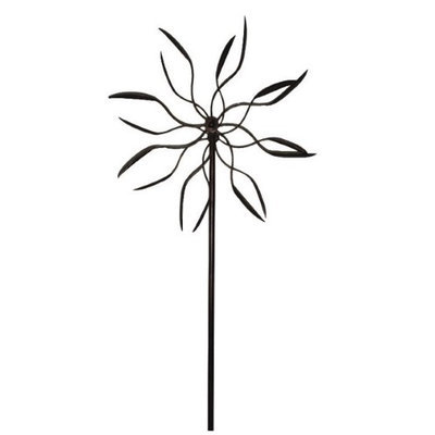 Panacea PAN88862 60 inch Dual Spinner Bronze Leaf Kinetic Art Windmill