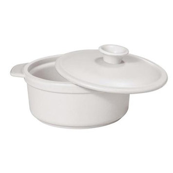 Paderno World Cuisine A4982193 Ceramic Cocotte Stone White