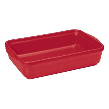 Paderno World Cuisine A4982199 Ceramic Rect Baker Red
