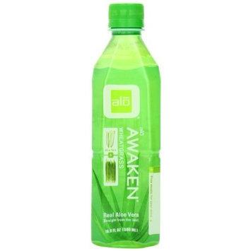 ALO Awaken Aloe Vera Beverage, Wheatgrass, 16.9 Ounce (Pack of 12)