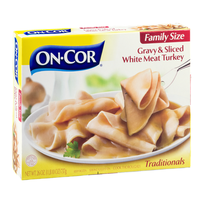 On-Cor Gravy & Sliced White Meat Turkey