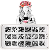 MoYou-London Nail Art Image Stamping Plate Flower Power Collection 11 US Stock
