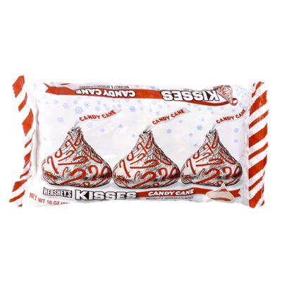 Hershey's Kisses Holiday Candy Cane Mint Candy