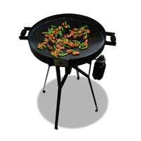 Firedisc Grills FireDisc TCGFD22HRB 22 In. HR Grill With Heat Ring Black