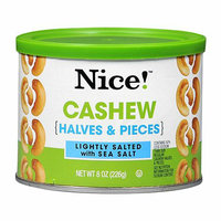 Nice! Cashew Halves & Pieces Lightly Salted with Sea Salt